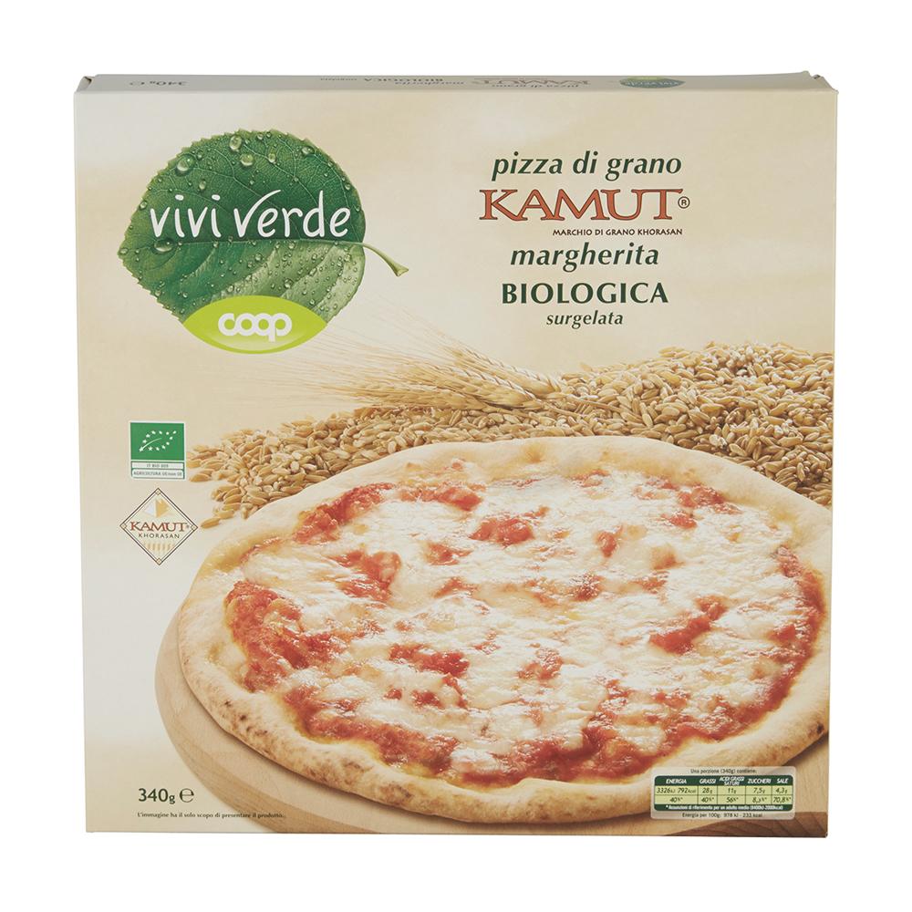 PIZZA MARGHERITA DI GRANO BIO KAMUT VIVI VERDE COOP