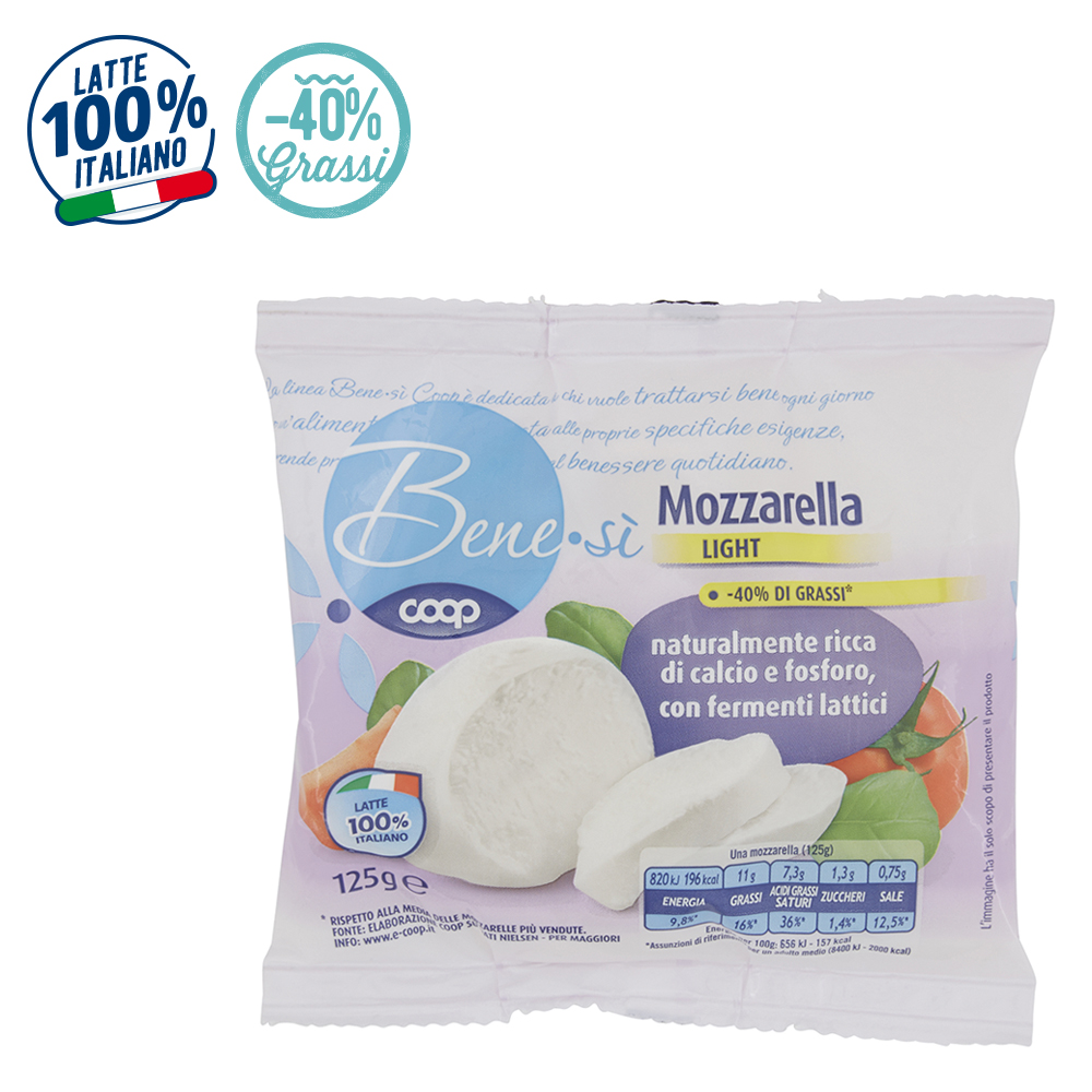 MOZZARELLA LIGHT BENEsì COOP