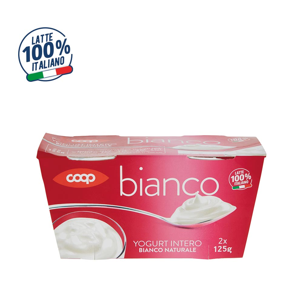 YOGURT INTERO BIANCO NATURALE COOP